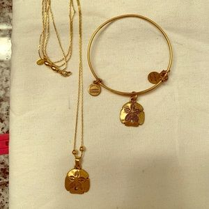 Alex and Ani necklace and bracelet
